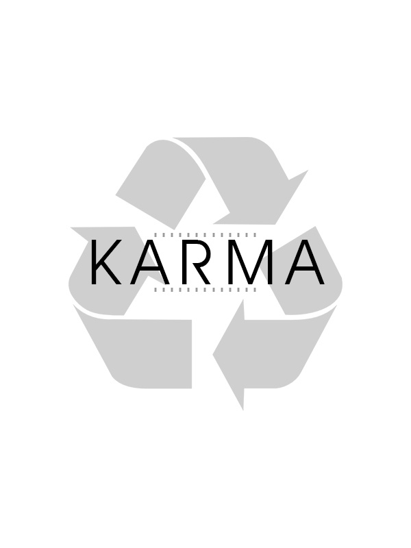 I'm loving this idea of the Karma Recycling Symbol.