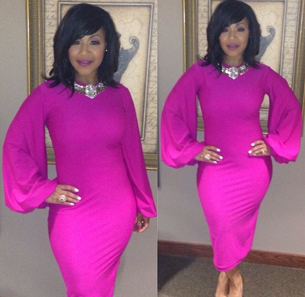 erica campbell pink dress | Fabulous Looks Of The Day: Weekend Edition April 19th – 20th, 2014