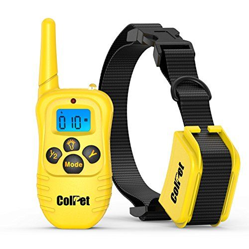 Colpet Rechargable LCD Remote Control Dog Training Shock Collar (yellow) * Check out this great product.