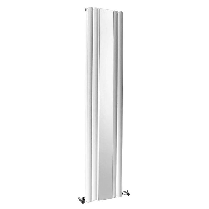 Browse the Metro Double Panel Vertical Radiator with Mirror online and complement the look of your modern bathroom. White finish. From Victorian Plumbing.