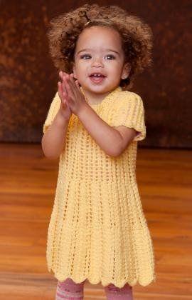 Free Knitting Pattern - Baby Knits: Happy Day Dress