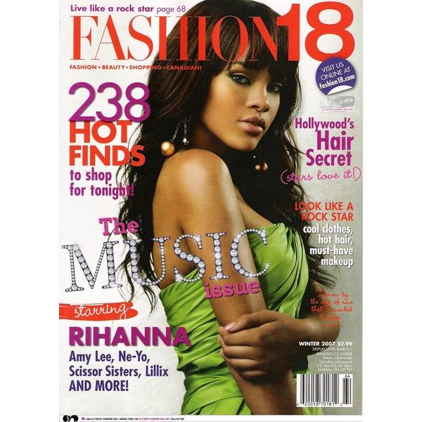 Rihanna Fashion 18 Magazine Winter 2007 ❤ liked on Polyvore featuring accessories