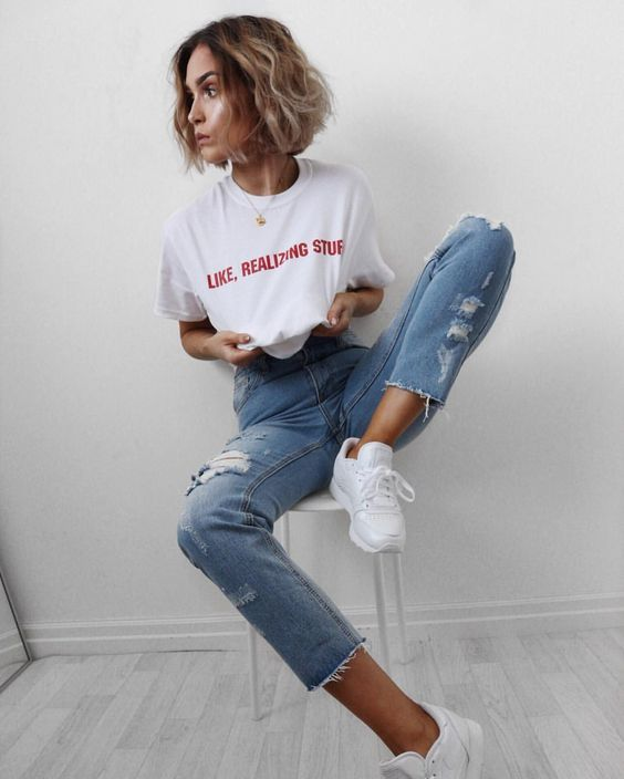 Best 25+ Boyfriend jeans outfit ideas on Pinterest