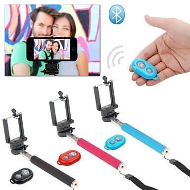Extendable Self Handheld Monopod + Wireless Bluetooth Remote Shutter Control for IOS Android Phones – EUR € 12.95