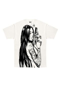 Kill It Clothing Addicted To Chaos T Shirt white with kill it on back