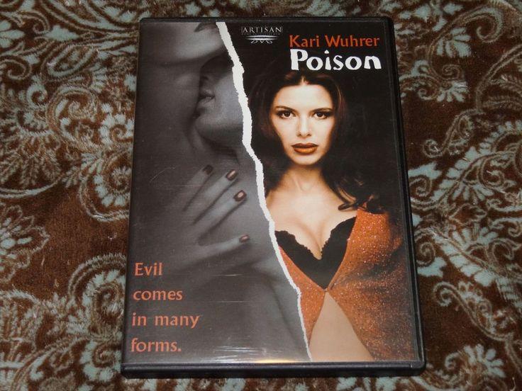 Poison (DVD, 2001) Rare OOP HTF 1st Artisan/Kari Wuhrer Erotic Thriller w/Insert