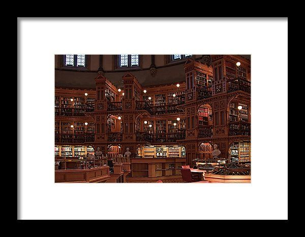 Inside The Library Of The Parliament, Ottawa Framed Print  by Tatiana Travelways #Ottawa #Canada #parliament #library #historic