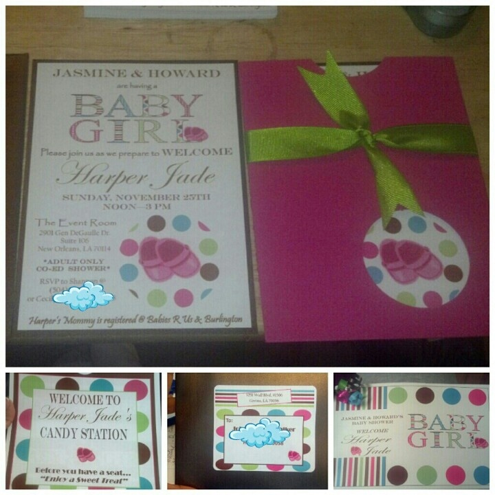 Baby Shower Invitation And Game Booklet