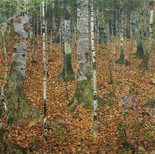Birkenwald/Buchenwald (Birch Forest/Beech Forest),1903  One of Five Klimts Repatriated to the Bloch-Bauer Heirs in2006