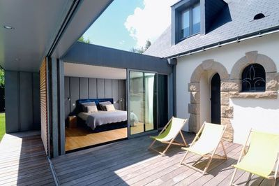 Pin by armelle robin habib on houses in and out layouts ideas pint - Extension maison prix au m2 ...