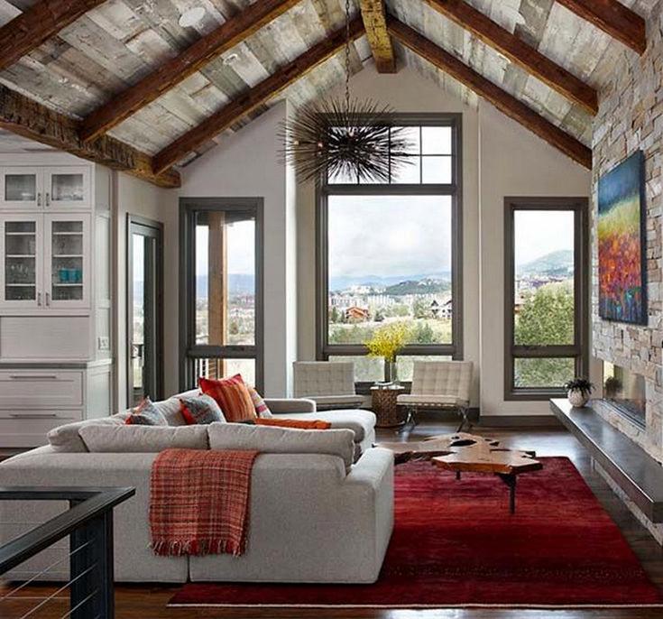 Gorgeous Rustic Cabin Interior Idea (44)
