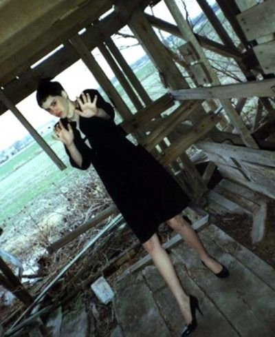 This picture of 14-year-old Regina Kay Walters was taken by serial killer Robert Ben Rhoades, who toured the country in an 18-wheeler equipped with a torture chamber in the back. Rhoades abducted Walters and her boyfriend, Ricky Lee Jones, who ran away together in Texas. This photo was taken in an abandoned Illinois barn, where Rhoades killed Walters after cutting off her hair and making her wear a black dress and heels. Jones's body was never found.