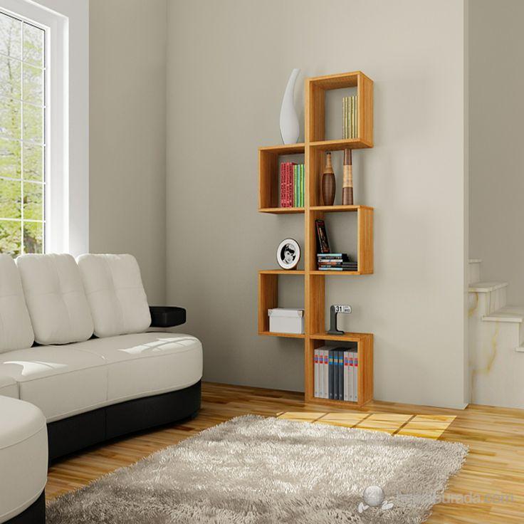 Leylak Simetrik Kitaplık - Bambu - Mobilya / Dekorasyon - Hepsiburada.com
