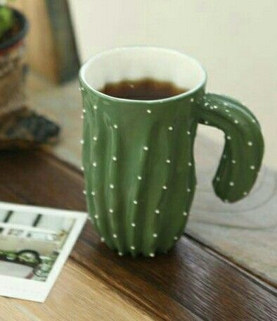 cactus mug for your morning coffee