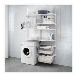 ALGOT 壁用支柱/棚板/物干しラック, ホワイト - IKEA