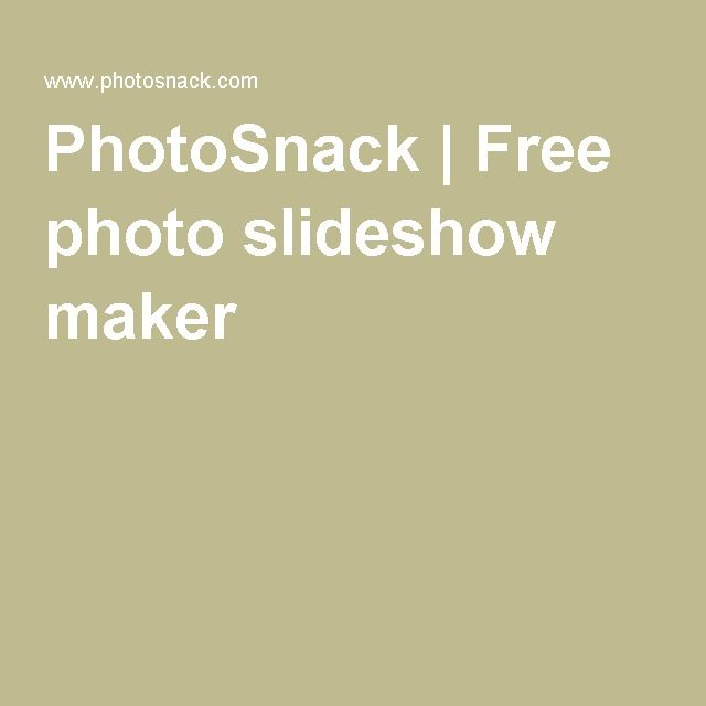 PhotoSnack | Free photo slideshow maker