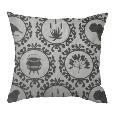 Icons of Africa Cover – Duck Egg Cotton from Design Team Cushions