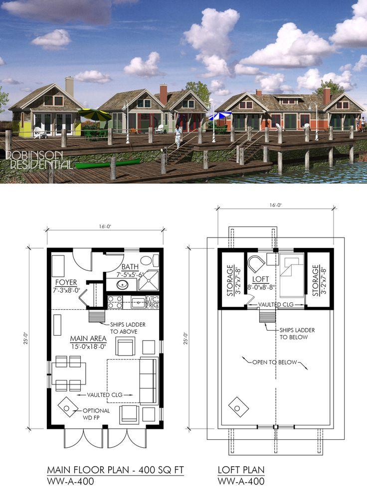 400 sq. ft, 1 bath. Craftsman house plans, Coastal