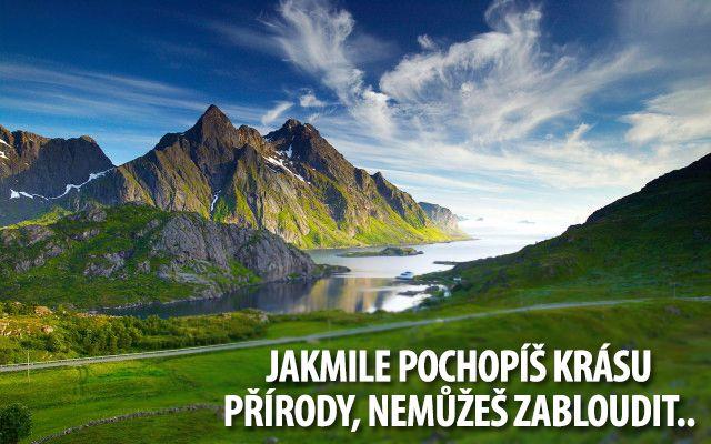 Pozitivní citát o přírodě..