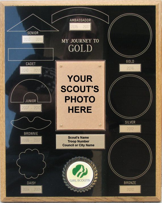 Journey to Gold Plaque Gold Award Plaque Girl by EagleGiftsGalore