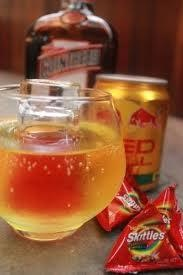 Skittle Bomb Recipe 1 Shot Cointreau 1 Half Red Bull Red Bull Skittles
