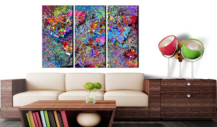 Obraz na korku - Colourful Whirl #mapart #domov #decor #korek #design #travel #pin #wall #corkboard