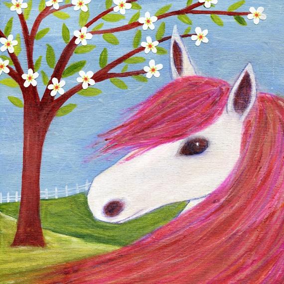 Spring Pony Art Print £15.00