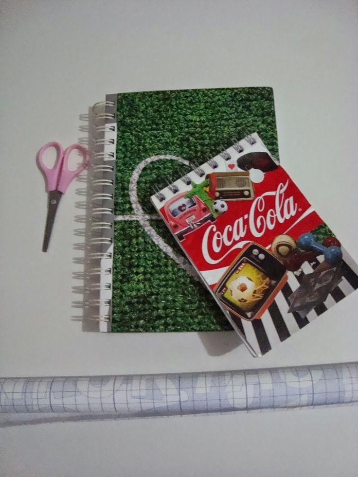 Made by Samy: DIY - Papel Contact transparente nos cadernos  Olá...