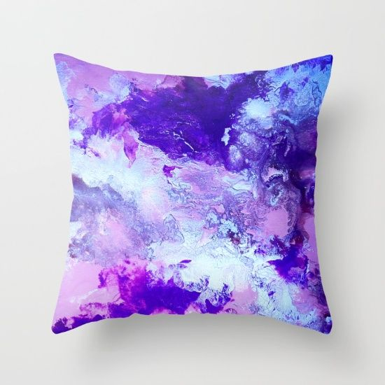 Buy Purple Haze Throw Pillow by Jazzyinked at Society6