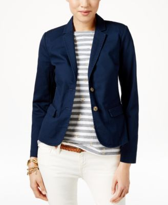 Comes in Tan - Tommy Hilfiger Two-Button Blazer