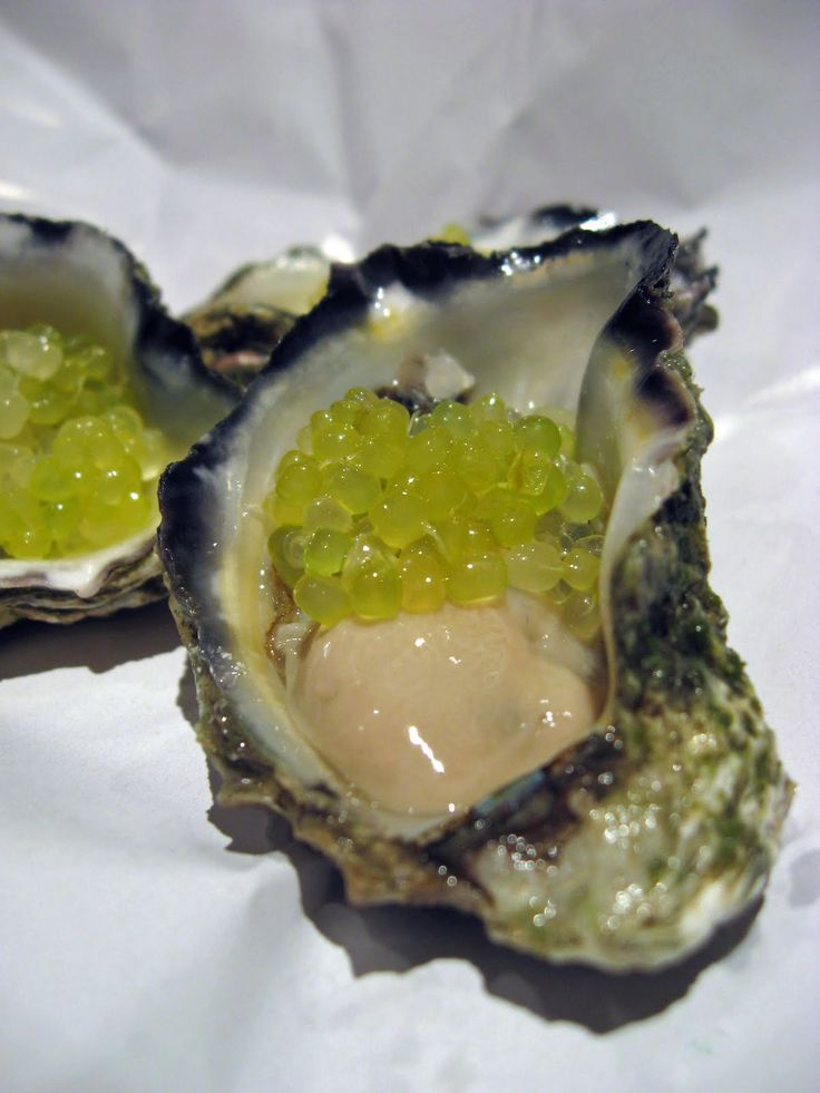 Oysters with Finger Lime Caviar