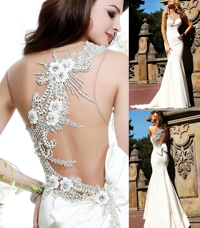 These wedding dresses with back detail are outstanding