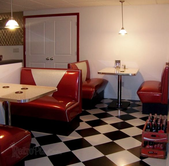 84 best images about 50 39 s diner kitchen dining room on for Retro basement ideas