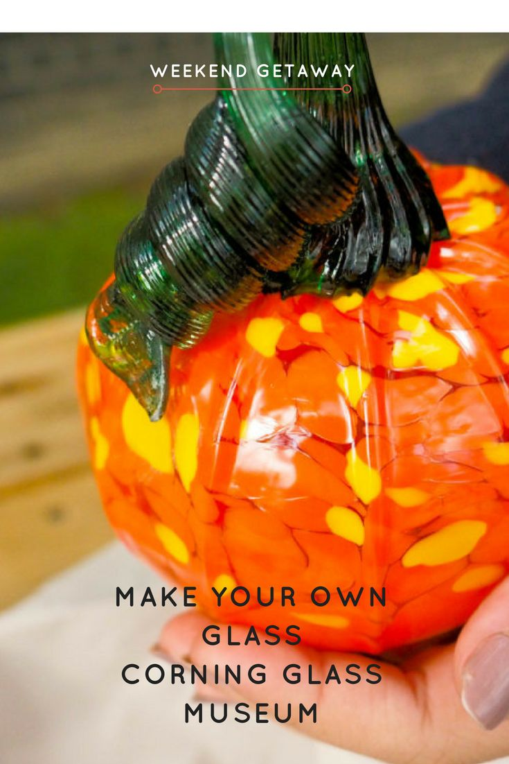 You can Make Your Own Glass at Corning Glass Museum in Corning New York!