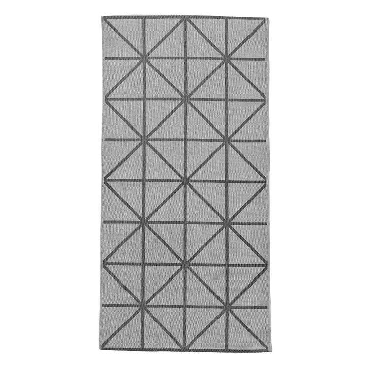 Koberec Grey diagonal 60x120 cm | Nordic Day