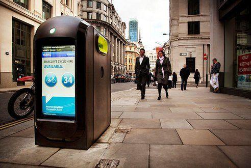 London's High Tech Recycling Bins Coming to NYCGreen Gadgets, Bombproof Lcd, Lcd Screens, Bombproof Trash, Green News, Green Technology, Recycle Bins, London High, Green Living