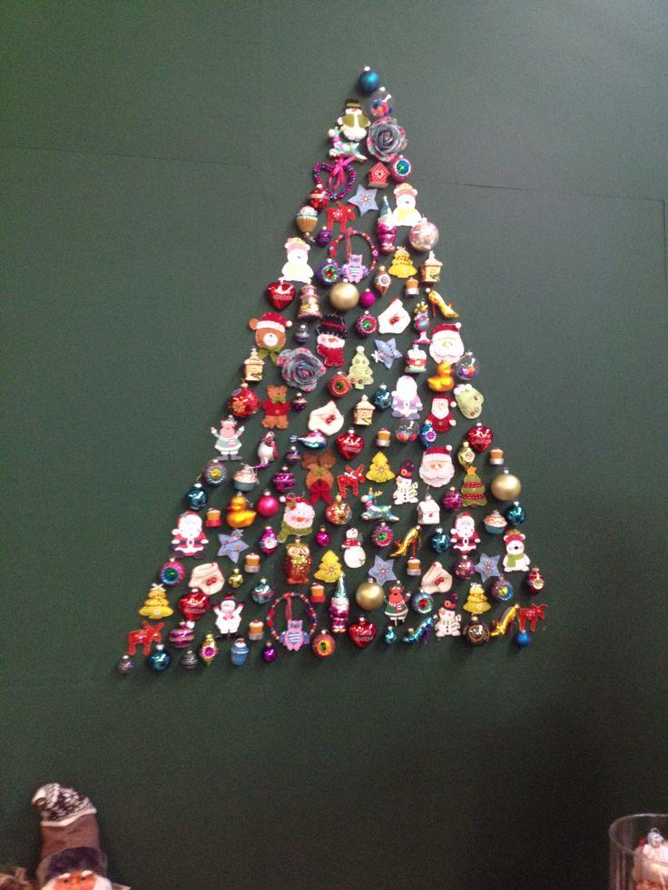 Kerst op de muur