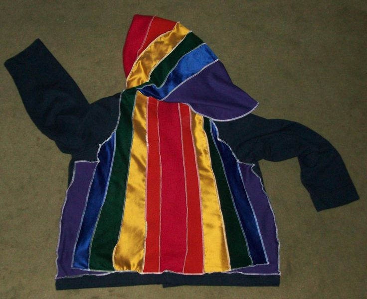 Rainbow, made from a Land's End jacket.