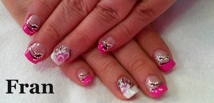 Acrylic Nails Floral Nail Art  The Nail Station  Glen Burnie MD  Nails By Jeannie Jackson