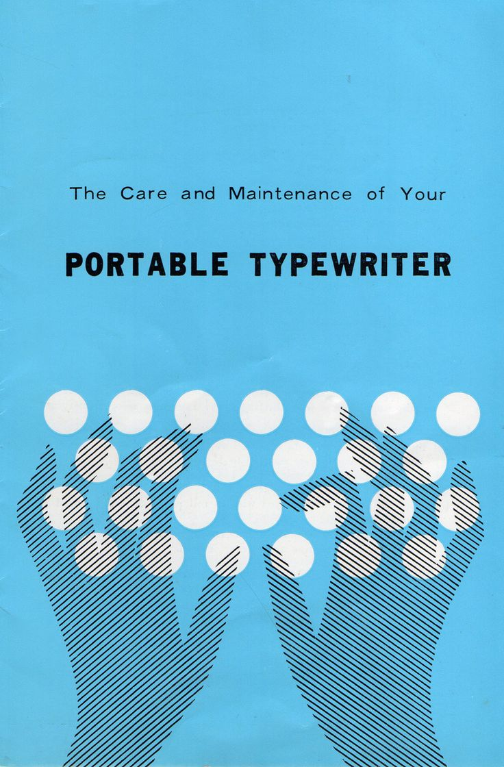 Typewriter maintenance manual