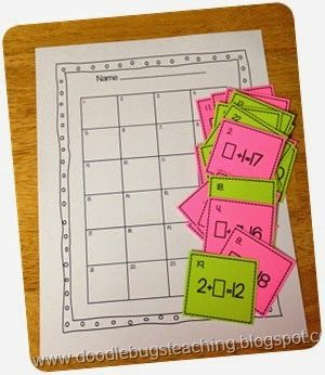 Plain Jane Math Centers/Task Cards