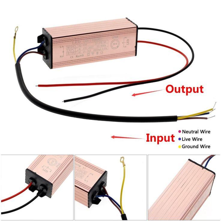 LED Driver 20W 30W 50W 60W 80W 100W AC100-265V to DC24V ...