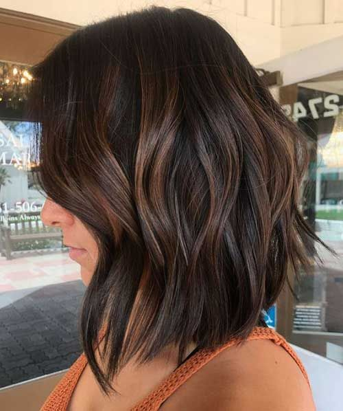 9 Dark Chocolate Brown Color For Short Hair Brown Hair With Highlights Brown Hair Balayage Thick Hair Styles