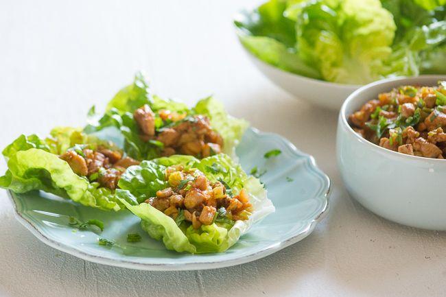 Sriracha Chicken Lettuce Cups Recipe from ChickenRecipeBox.com