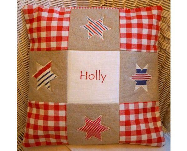 Red Little Star Cushion
