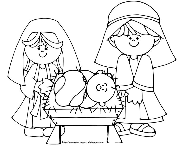 25 best Nativity coloring pages images on Pinterest