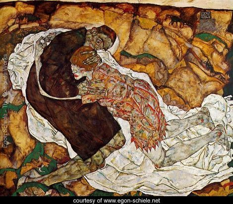 Death and the Maiden - Egon Schiele. Love the work of Schiele.