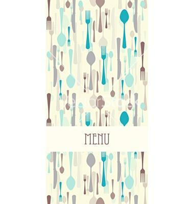 Restaurant menu with cutlery vector, Bingo Invite Idea, wine bottles instead?