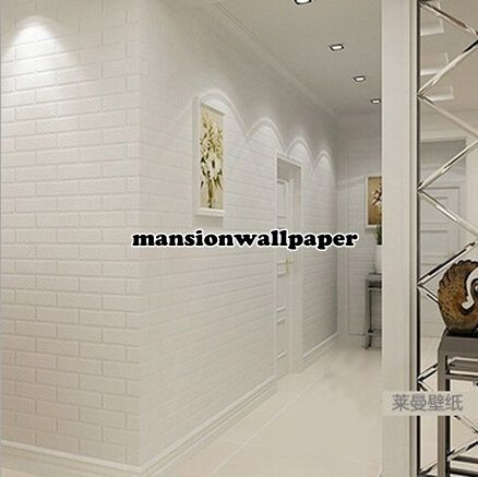 Jual Wallpaper Dinding Bata Putih - Mansion Wallpaper | Tokopedia