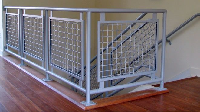 Best images about woven wire metal railing examples on